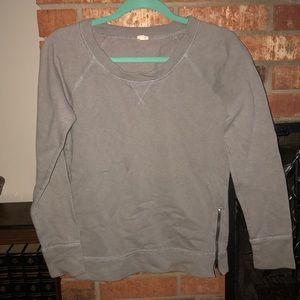 J. Crew side-zip sweatshirt